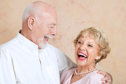 Seniors with Dentures Laughing